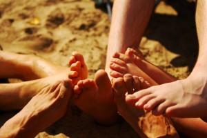 Laufwissen 8 Dakten Füße im Sand