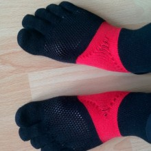 Die Oberseite der Socken