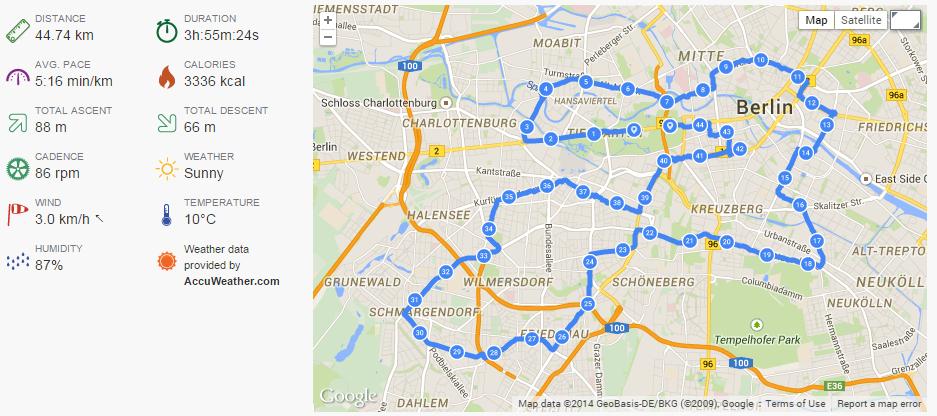 Garmin Fenix 2 Berlin Marathon Messung