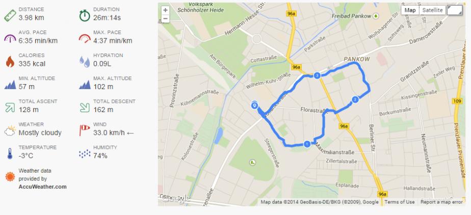 GPS Aufzeichnung mit Endomondo App