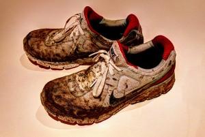 schmutzige Laufschuhe im Jahresrückblick