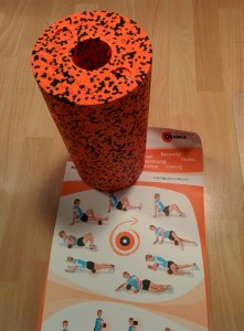 Blackroll Orange mit Übungsposter