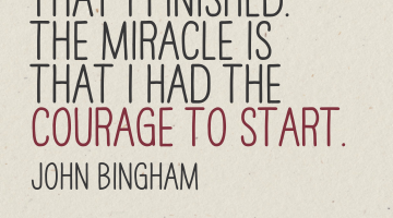 "Laufzitate: John Bingham ""The miracle isn't that I finished…"""